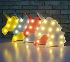 Luminária de Unicórnio, perfeita para deixar seu quartinho ou escritório num clima mítico. Muito kawaii ^^