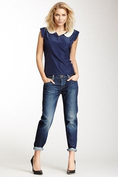 Lilly Relaxed Skinny Straight Leg Jean by Level 99 on @HauteLook