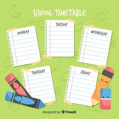 Kids Going To School, Back To School, Infographic Template Powerpoint, Ways To Tie Scarves, Timetable Template, School Timetable, World Teachers, School Labels, School Clipart