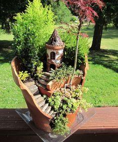 broken flowerpot? no problem, make this!