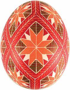 Pysanka with star rose motif from Ukrainian Gift Shop