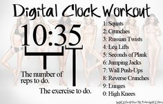 Fitness, Health, And Confidence ♥, Digital Clock Workout Fitness Motivation, Fitness Tips, Workout Fitness, Ana Workout, Skinny Motivation, Fitness Challenges, Workout Plans, Workout Ideas, Butt Workout