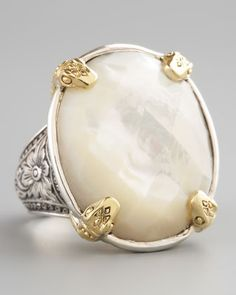 Mother-of-Pearl Ring by Konstantino at Neiman Marcus.