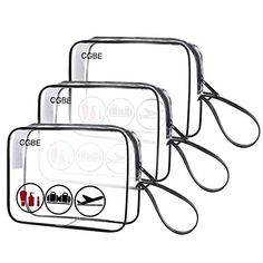 2842051781 TSA-Approved Clear Travel Toiletry Bag With Handle Strap