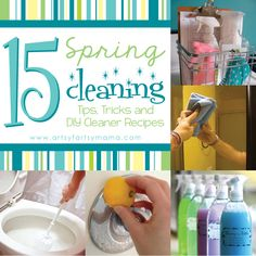 15 spring cleaning tips, from DIY Swiffer Wet Jet Pads to Carpet Cleaner.