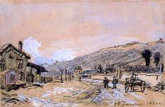 Johan Bartold JONGKIND La Côte St-André 1880 Isère