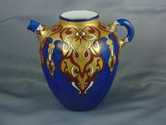"Jean Pouyat (JP) Limoges Arts & Crafts Pitcher (Signed ""Rhoda M. B. McCreery""/c.1862-1910)"