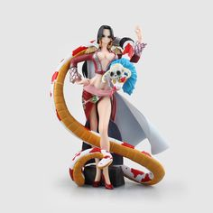 (28.85$)  Know more - http://aisfo.worlditems.win/all/product.php?id=32653246758 - Anime One Piece Boa Hancock 1/7 scale painted PVC Action Figure Collectible Model Toy 22.5cm KT2175