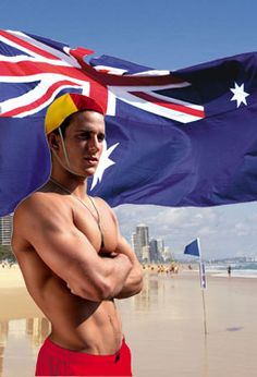 Australian Volunteer Life Savers (Lifeguard), on duty at most major beaches around Australia, remember to always swim between the flags P. - We ceased to be a British Colony over a century ago - Time for a new Australian South Australia, Western Australia, Red And Yellow Flag, Boys Swimwear, Down South, Cool Countries, Lifeguard, Sunshine Coast, Life Savers