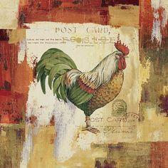 Imprimolandia: Láminas de gallos para decoupage