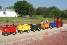 Ride On Train, Train Car, Backyard For Kids, Diy For Kids, Barrel Train, Kids Play Spaces, Trains For Sale, Farm Games, Construction For Kids