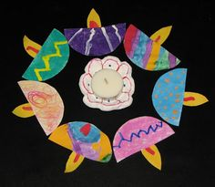 Paper Lamps Garland... ~ Putti's World -kids-activities (Diwali activity)