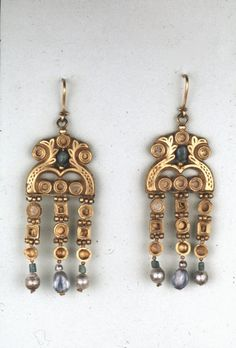 Earrings  Early Byzantine AD 600 Found in Asyut, Egypt