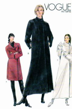 Maxi Coat Easy Vogue 9953 Womens Sewing by FindCraftyPatterns, $10.00