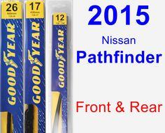 Front & Rear Wiper Blade Pack for 2015 Nissan Pathfinder - Premium