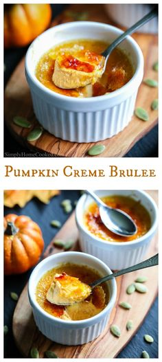 This delicious pumpkin creme brulee recipe has the creamiest and smoothest custard with mild hints of pumpkin pie spices and real pumpkin puree. #pumpkin #cremebrulee #pumpkincremebrulee #frenchdessert #falldessert