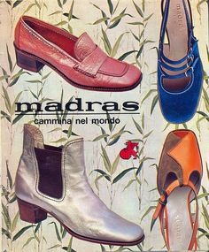 1967. (the pink shoes) This type of shoe has come back into style with a more modern take. The strap across the foot and the raised front is very popular. -Jalea Crump 3/22/16