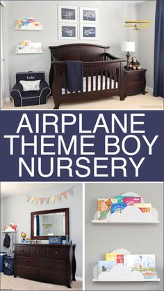 Airplane Boy Nursery Themes Baby Room Decor Nurseries