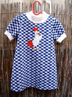 Vintage 70s Chicken Day Dress