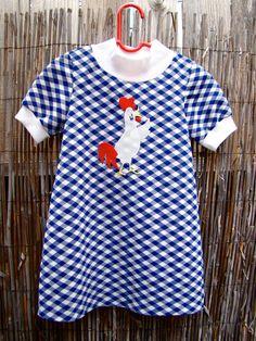 Vintage 70s Chicken Day Dress