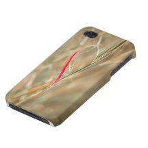 Funda iphone con foto abstracta de hierba corazón iPhone 4/4S carcasa