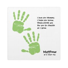 Custom handprint art from child with name, poem plaque   Zazzle.com