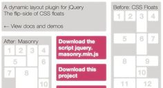 Get started with jQuery Masonry