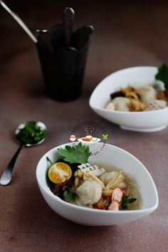 Indonesian Fish and Seafood: Tekwan (Palembang Fish Ball Soup).  Be sure to have this with green chili sambal