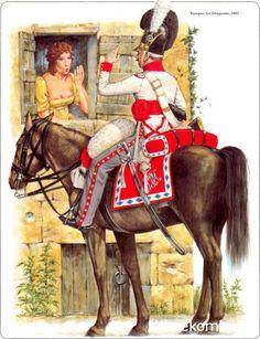 Napoleon's German Allies. Bavaria trooper 1st Dragoons 1807