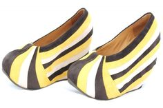 Pleated wedges! I love these pleated wedges by Mini Market. They are unlike anything I've seen before