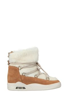 Boots suede et fourrure Anna