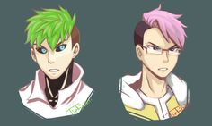 tsukicchii: Genos jacksepticeye and Saitama markiplier  I was so happy when Jack 'fangirled' over One Punch Man because I love it too! Awesome detailed animation plus the rocking music!   Also, I couldn't draw Genos's robotic mechanical body. Hence, the headshots.  therealjacksepticeye: I like how you drew my hair haha. I wish it looked like that in real life.