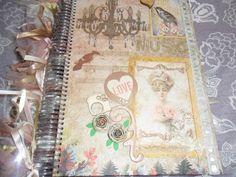 Scrap da Ester: caderno Damas/música