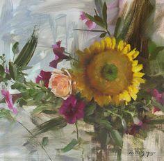 """""""Season's End Bouquet"""" 2009 oil/linen - Daniel J. Keys"""