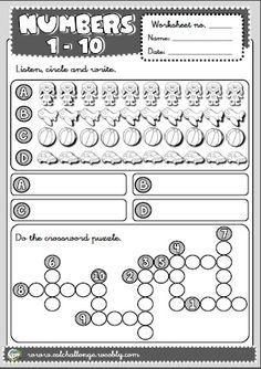 numbers - worksheet