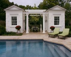 Love the pool house!