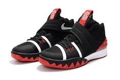 low priced cc23e 9b285 Legit Cheap Nike Kyrie Hybrid Black Red-White Mens Basketball Shoes 2018  For Sale