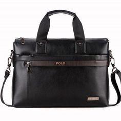 5259fd304810 Brand Office Men s Pu Leather Briefcase Fashion Handbags For Man Sacoche  Homme Marque Male Bag For A4 Documents Black X15