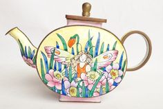 What a pretty fairy miniature teapot by Charlotte di Vita; available from nivagcollectables.co.uk