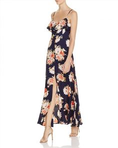 79.00$  Watch here - http://viluw.justgood.pw/vig/item.php?t=9u9tr654433 - Band of Gypsies Floral Flounce Maxi Dress