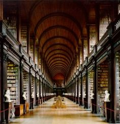 Trinity College.  Dublin. Cool library!!!