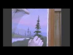 Video: Easy to Paint Pine Trees with Acrylic Artist Jerry Yarnell - @YouTube  #Art