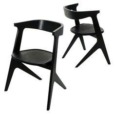 Chaise empilable Slab / Bois Noir - Tom Dixon