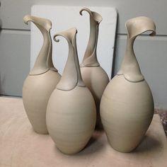 5 Cheap And Easy Ideas: Pottery Vases Art glass vases fun.Vases Decoration Wedding vases classic blue and white. Slab Pottery, Pottery Vase, Ceramic Pottery, Antique Pottery, Ceramic Pots, Ceramic Clay, Vase Design, Tadelakt, Clay Vase