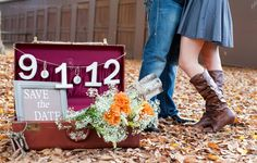 Incorporate Save the Date picture with your engagement photos (such a good idea! Wedding Set Up, Wedding Pics, Wedding Shoot, Wedding Bells, Wedding Stuff, Wedding Ideas, Engagement Ideas, Engagement Pictures, Engagement Session