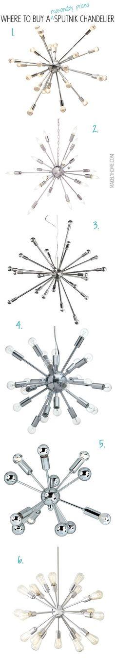 Where to buy a reasonably priced sputnik chandelier via MakelyHome.com