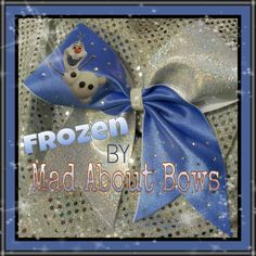 Frozen Cheer Bow! - Disney - Olaf the Snowman OOAK Winter Cheer Bow on Etsy, $15.00