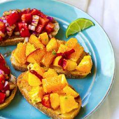 Foodie Friday Link Time: Celebrate Summer With Citrus Peach Bruschetta