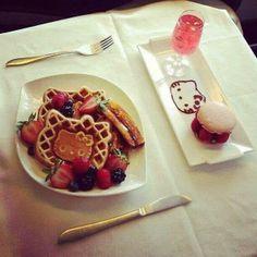 Yummy hello kitty waffle n sweets