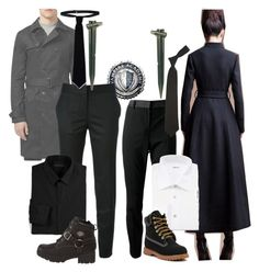 """""""Dimitri and Alberta"""" by ironraven281 ❤ liked on Polyvore featuring Dolce&Gabbana, Topman, STELLA McCARTNEY, Theory, Kiton, Harley-Davidson, RED Valentino and French Toast"""